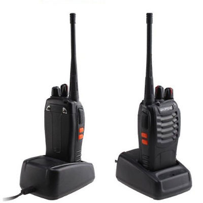 2X Baofeng Dual band Handfunkgerät Walkie-Talkie BF-888S CTCSS/CDCSS Headset UHF