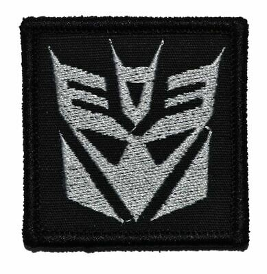 Decepticon Transformers 2x2 Military/Morale/Police Patch Hook Backing