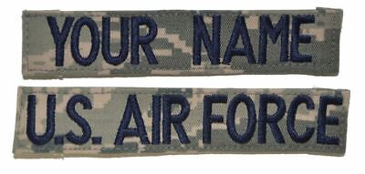 2 Piece Custom Name Tape Set w/ Hook Fastener Backing - ABU