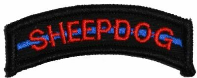 Sheepdog Thin Blue Line Military/Morale Tab Patch Hook Backing