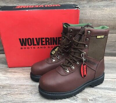 b373fadddbd WOLVERINE BIG HORN Boots Men's Mismate 8 Insulated Waterproof GoreTex Steel  Toe