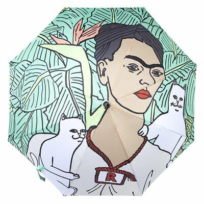 "RIPNDIP ""Nermal Leaf"" Umbrella (Green) Women's Frida Kahlo Sun Rain Parasol"
