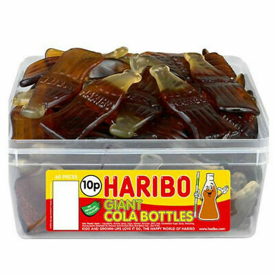 Haribo Giant Cola bottles Jelly Gums Sweets Weight 50g 250g 500g 1kg Bags