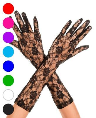 Lace Elbow Length Gloves - Music Legs 481