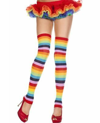 Acrylic Rainbow Leg Warmers - Music Legs 4252