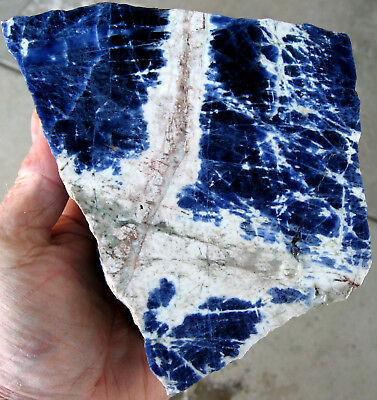 rle  BLUE SODALITE ROUGH, NAMIBIA, BEAUTIFUL COLOR! 3.42 LBS.