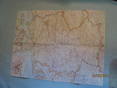 VINTAGE GERMANY MAP National Geographic June 1959 MINT