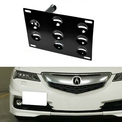 JDM Style Bumper Tow Hook License Plate Bracket Mount Holder For 15-up Acura TLX