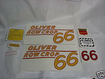 Oliver 77 Standard Yellow Numbers Tractor Decal Set