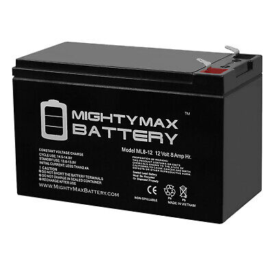 Mighty Max 12V 7.2AH SLA Battery for Lowrance Portable Fishfinder 12V Charger