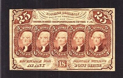 US 25c Fractional Currency 1st Issue w/o ABC FR 1282 VF (-013)