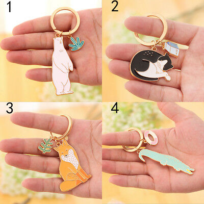 Cute Cartoon Plants Keychain Creative Giant Delicate Key Metal Cartoon Pendant
