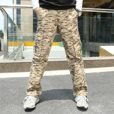 Cargo Trousers Urban Military Camouflage Pockets Combat Trousers Camo Army