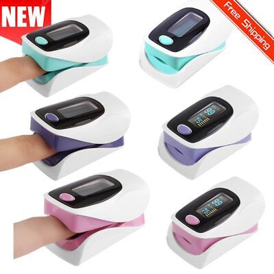 Fingertip Pulse Oximeter SPO2 Blood Oxygen Meter Heart Rate Monitor OLED UK