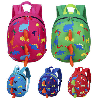 Baby Boys Girls Kids Dinosaur Pattern Animals Zipper Backpack Toddler School Bag