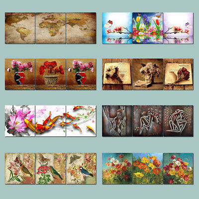Photo Painting Canvas World Map Koi Flowers Owl Abstract Art Wall Decor Frame