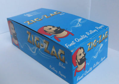 Zig-Zag Blue Rolling paper - regular size 70mm 1box - 2500 papers