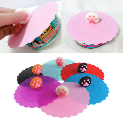 1/4Pc Pet Dog Cat Food Can Cover Silicone Storage Cap Fresh Lid Reusable