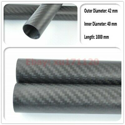 OD 42mm x ID 40mm x L 1000mm 3K Matt Carbon Fiber Tube Plain Multicopter arm