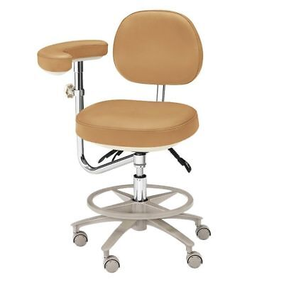 Dental Deluxe Medical Office Assistant's Stools Adjustable Mobile Chair Leather