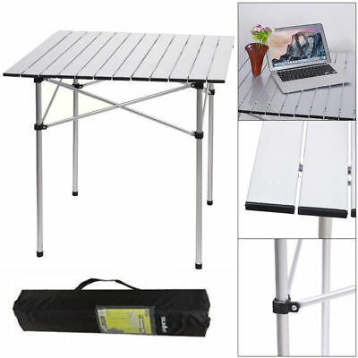 Aluminum Roll Up Table Heavy Duty Folding Camping Outdoor Indoor Picnic Bag  US