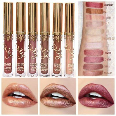 Waterproof Cosmetics Matte Lip Cream Liquid Gloss Lipstick Long Lasting 16 Color