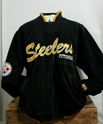 online store 02326 90227 PITTSBURGH STEELERS JACKET Mens Varsity NFL Letterman Suede Leather sz XXL