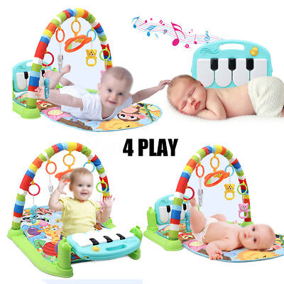 3 In 1 Baby Lullaby Kid Playmat Musical Piano Activity Soft Fitness Sleeping Mat
