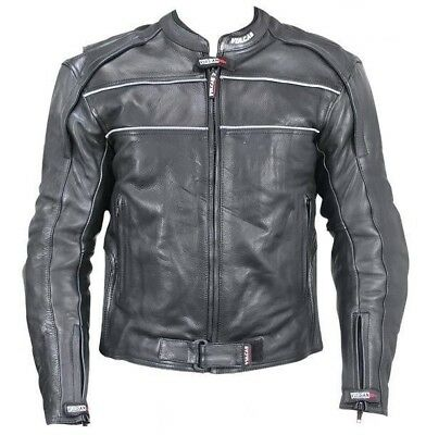 Vulcan Men's NF-8127 Armored Leather Motorcycle Jacket