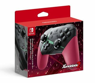 New Nintendo Switch Pro Controller Xenoblade 2 Edition JAPAN OFFICIAL IMPORT