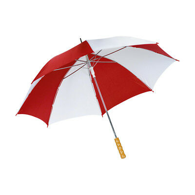Windproof Umbrella Push Button Automatic Red White Ladies Men Travel Golf Brolly