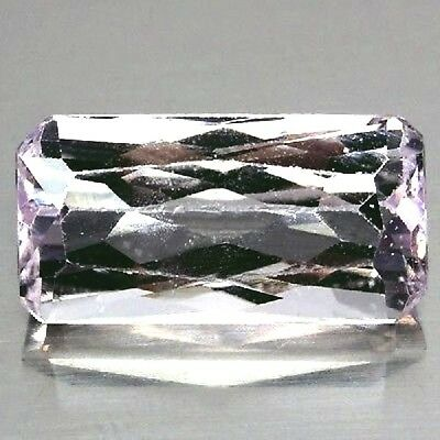 NATURAL LIGHT PINK KUNZITE GEMSTONE LOOSE EMERALD CUT 16.5 x 8.5 mm