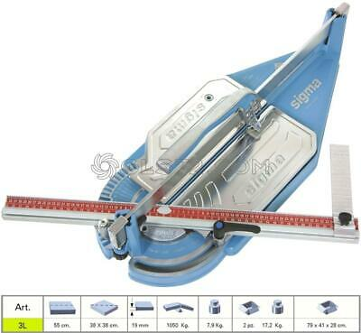 Tile Cutter Machine Manual Pull Handle Sigma 3L Cutting Lenght 55 Cm