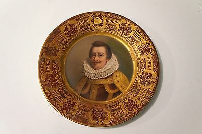 Royal Vienna Style Cabinet Plate Hand Decorated by F.X. Thallmaier, Munich