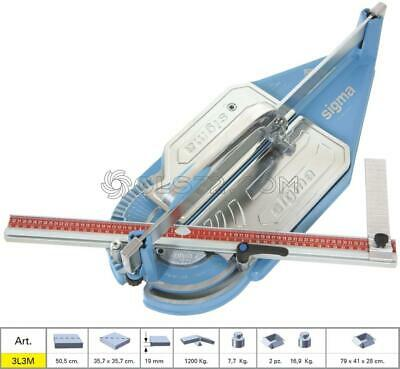 Tile Cutter Sigma 3L3M Machine Manual Push Handle Cutting Lenght 50,5 Cm