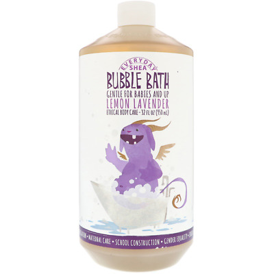 New Everyday Shea Bubble Bath Gentle For Babies And Up Lemon Lavender Body Care
