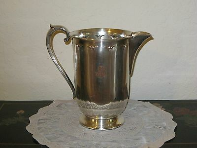 Vintage Forbes Silver Co. Single Plated Monogramed Pitcher