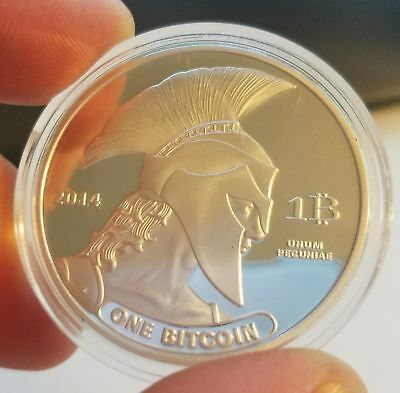 Gold Plated Titan Commemorative Coin BTC Bitcoin Collectible Physical