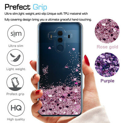 For Huawei P30 Pro P20 LITE View 20 Cute Glitter Liquid Quicksand Case Cover