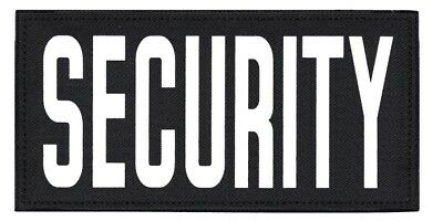 SECURITY patches with Velcro® attachment  in WHITE  lettering