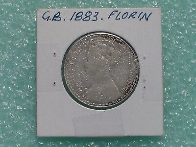 Great Britain - 1883 One Florin - Two Shillings- Predecimal Coin.