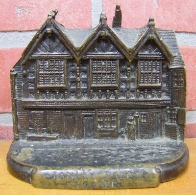 Old STANLEY PALACE CHESTER England Solid Brass Bookend Decorative Art Statue