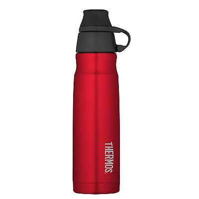 THERMOS Vacuum Insulated Stainless Steel Carbonated Beverage Bottle, 17oz Red
