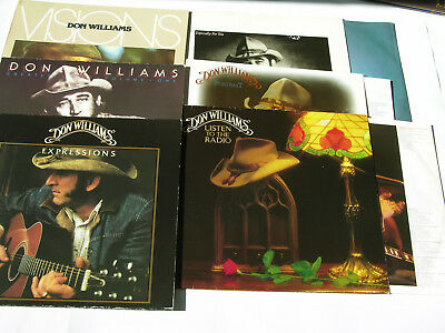 """Don Williams Sammlung 6 LPs Vinyl 12"""" expressions visions especially for you"""
