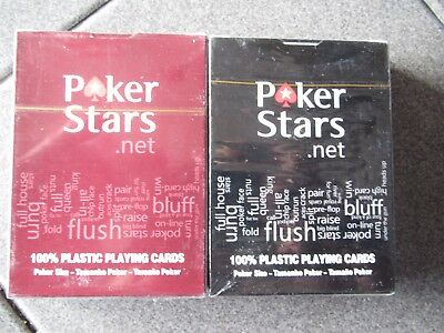 COPAG PokerStars Poker Jumbo Index Plastic Playing Cards Black OR RED FREE S&H