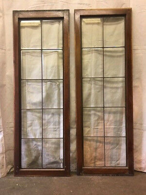Pair of Beautiful Beveled Glass Side Lights Or Transoms Windows Great Condition