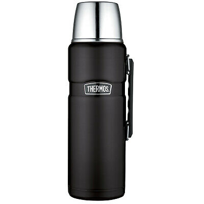 Thermos Stainless King 68 Ounce Vacuum Insulated Beverage Bottle, Matte Black