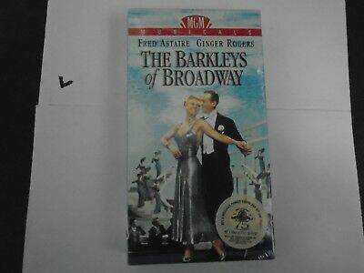 """Vintage 1991 VHS """"The Barkleys of Broadway"""" Fred Astaire & Ginger Rogers NEW"""