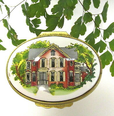 """Halcyon Days Enamel Trinket Box """"home Is Where The Heart Is"""" By Tiffany & Co."""