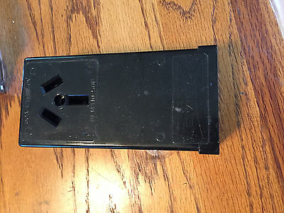 Leviton Black SURFACE MOUNT POWER OUTLET - New in Box - 50A 125/250V
